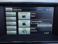 2015 Jaguar F-Type V6 Convertible Indigo Blue Metallic navigation screen display