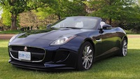 2015 Jaguar F-Type V6 Convertible Indigo Blue Metallic front closeup