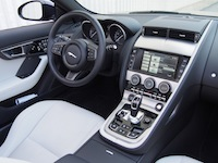 2015 Jaguar F-Type V6 Convertible Indigo Blue Metallic interior white black dashboard