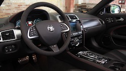 2015 Jaguar XKR-S Convertible Black interior dashboard