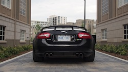 2015 Jaguar XKR-S Convertible Black rear wide view