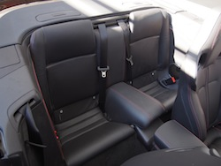 2015 Jaguar XKR-S Convertible Black rear seats