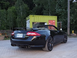 2015 Jaguar XKR-S Convertible Black rear