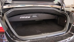 2015 Jaguar XKR-S Convertible Black trunk storage space