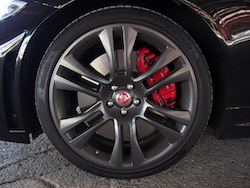 2015 Jaguar XKR-S Convertible Black 20 inch vulcan wheels rims red calipers