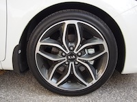 2015 Kia Forte5 SX Luxury White 18 inch wheels rims flower