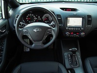 2015 Kia Forte5 SX Luxury White dashboard interior steering wheel