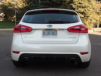 2015 Kia Forte5 SX Luxury White rear