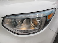 2015 Kia Soul EV White Blue led headlights