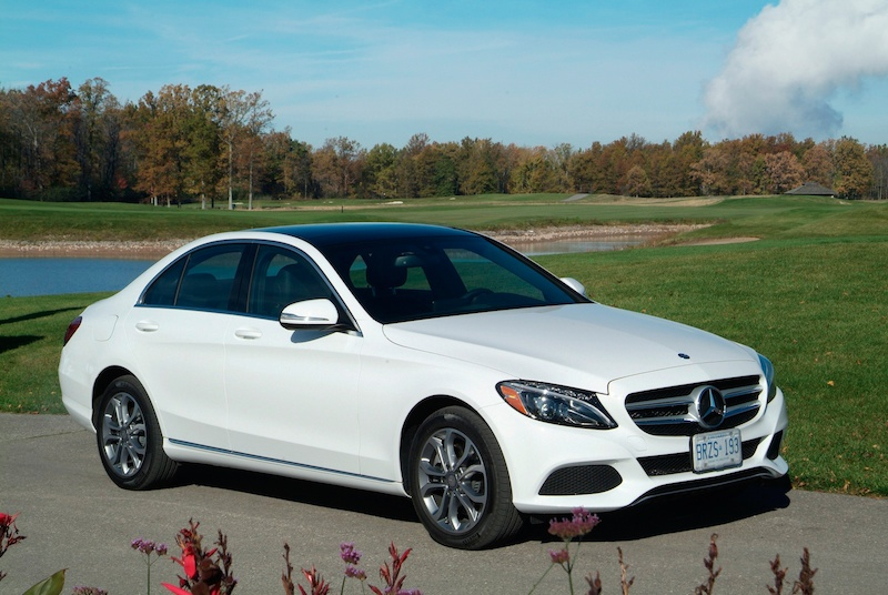 2015 Mercedes-Benz C300 4MATIC white front