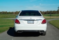 2015 Mercedes-Benz C300 4MATIC white rear