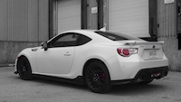 2015 Subaru BRZ Aozora Edition Crystal White Pearl rear spoiler exhaust