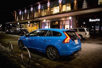 2015 Volvo V60 Polestar Rebel Blue lights