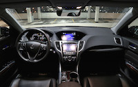 acura tlx interior 9-speed transmission
