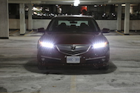 acura tlx red front led jewel lights