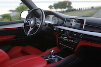 bmw x5m red interior