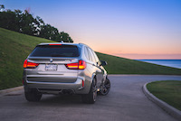bmw x5m at sunset