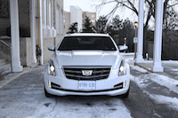 2015 cadillac ats coupe white front view