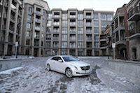 white cadillac ats coupe