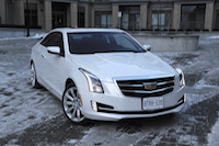2015 cadillac ats coupe white front led