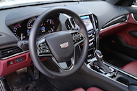 2015 cadillac ats coupe red black interior