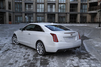 2015 cadillac ats coupe white rear