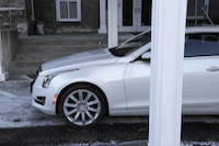 2015 cadillac ats coupe white side view tires