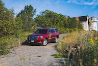 cadillac escalade red