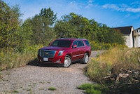 cadillac escalade platinum red