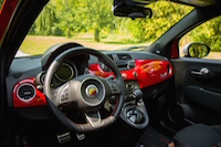fiat 500 abarth cabrio red interior