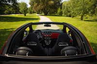 fiat 500 abarth cabrio black interior view