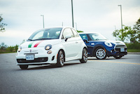 fiat 500 turbo white italian mopar stripes