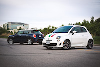 fiat 500 turbo versus mini cooper