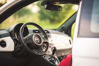 fiat 500 red black interior