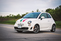 2015 fiat 500 mopar italian stripes green red