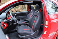 fiat abarth front seats