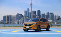 2015 ford edge cn tower yellow