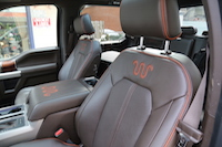 2015 ford f-150 king ranch leather seats