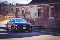 2015 ford mustang blue fastback ecoboost