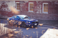 2015 ford mustang blue ecoboost
