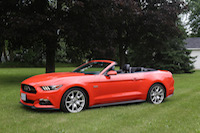 ford mustang gt 50th orange convertible