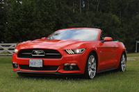 ford mustang gt convertible 50th anniversary edition orange