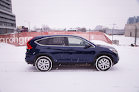 blue honda cr-v se