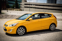 2015 hyundai accent yellow