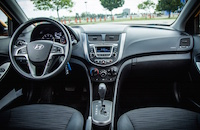 hyundai accent interior black