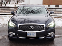 2015 Infiniti Q50 3.7 AWD Blue front headlights grill