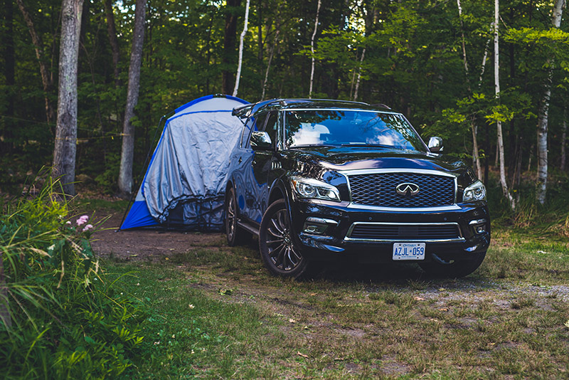 infiniti qx80 limited napier tent camping