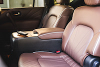 infiniti qx80 limited quilted rear seats