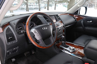 2015 infiniti qx80 black leather wood