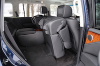 2015 infiniti qx80 second row captain chair seats folded